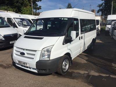 FORD TRANSIT Minibus 2.2 TDCi 300 M Medium Roof Shuttle Bus 4dr (9 Seats, MWB)