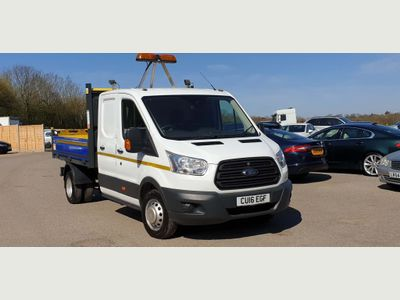 Ford Transit Tipper 2.2 TDCi 350 Double Cab Chassis Cab RWD L3 H1 EU5 4dr (DRW)