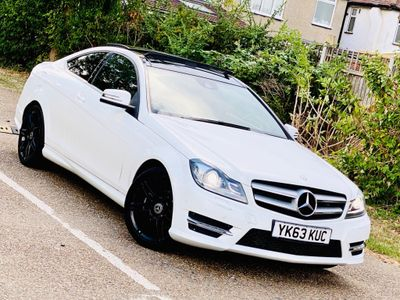 Mercedes-Benz C Class Coupe 1.6 C180 BlueEFFICIENCY AMG Sport Plus 7G-Tronic Plus 2dr (Map Pilot)