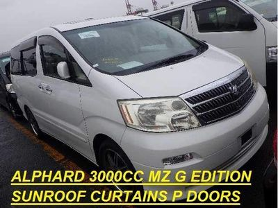 Toyota Alphard MPV 3000cc V6 MZ G EDITION SUNROOF CURTAINS