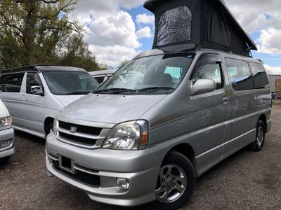 Toyota HIACE REGIUS POP TOP 4 BERTH FULL NEW SIDE CAMPER Campervan CONVERSION LOW MILES 51K LPG