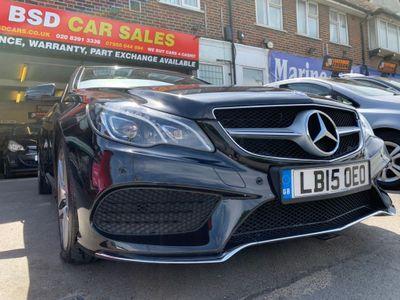 Mercedes-Benz E Class Convertible 3.0 E350 CDI BlueTEC AMG Line (Premium) Cabriolet 9G-Tronic Plus (s/s) 2dr
