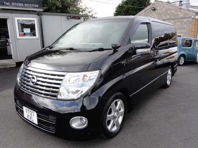 Nissan Elgrand MPV HIGHWAY STAR UK SAT NAV DVD