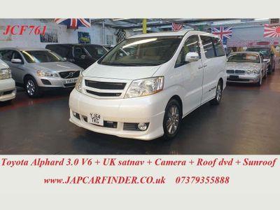 Toyota Alphard MPV V6 UK satnav curtains sunroof 8 seater