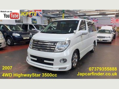 Nissan Elgrand MPV NE51 4WD HIGHWAY STAR FRESH IMPORT