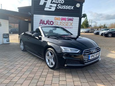 Audi A5 Cabriolet Convertible 2.0 TDI S line Cabriolet S Tronic quattro (s/s) 2dr