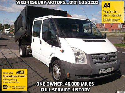 Ford Transit Chassis Cab 2.2 TDCi 350 Double Cab Chassis RWD L 4dr (EU5, DRW, LWB)