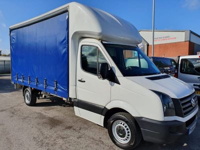 Volkswagen Crafter Curtain Side 2.0 TDI BlueMotion Tech (EU6) CR35 Chassis Cab 2dr (EU6, LWB)