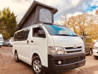 Toyota HIACE REGIUSACE POP TOP 4 BERTH FULL CAMPER Campervan CONVERSION 6 SEATER 39K PETROL AUTOMATIC