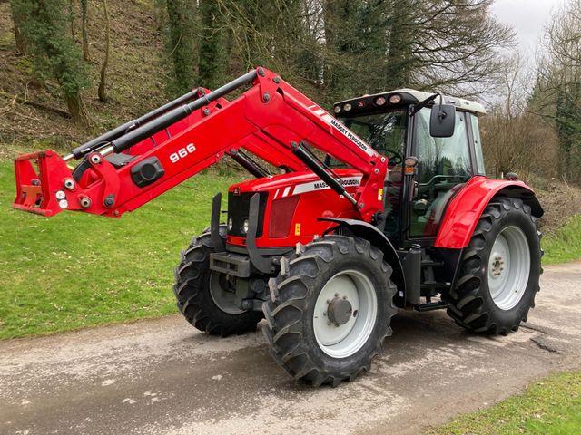 2012 Massey Ferguson 6470 Dyna 6 Tractor c/w 966 Loader Image