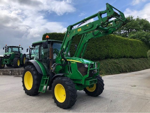 2015 John Deere 6100MC with H310 Loader, 2600 Hours. Image