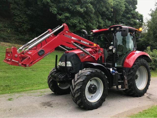 2017 Case Maxxum 145 Tractor C/W LRZ120 Loader Image
