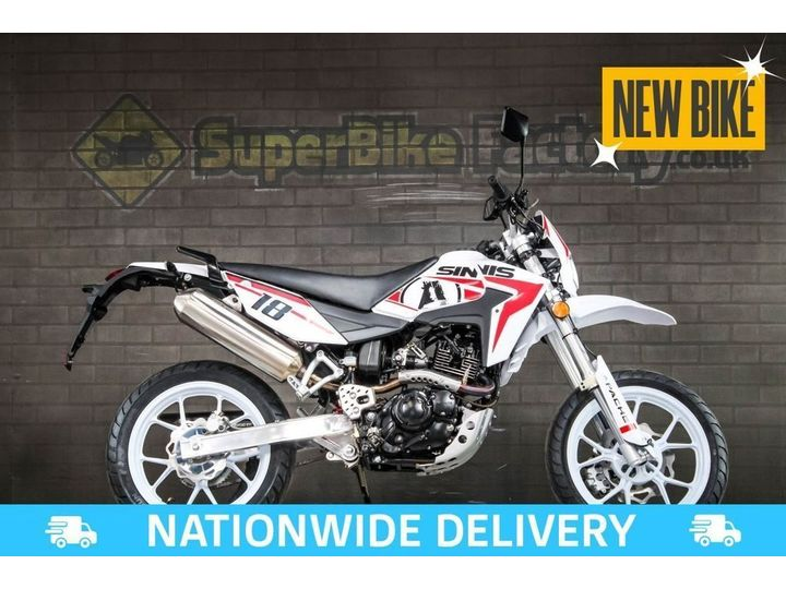 Sinnis Apache 125 SM ALL TYPES OF CREDIT ACCEPTED 125cc image