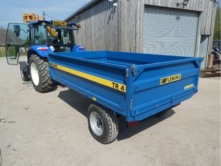 2016 Fleming 4 ton drop sided tipping trailer in like new ...