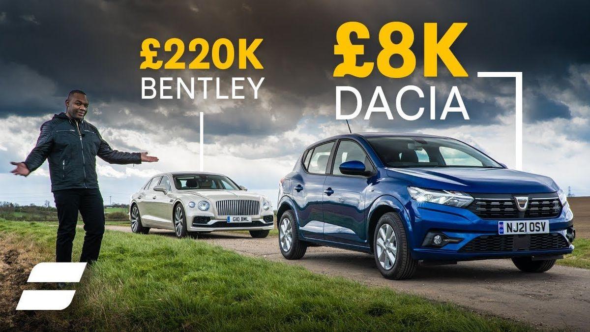 Dacia Sandero and Bentley Flying Spur