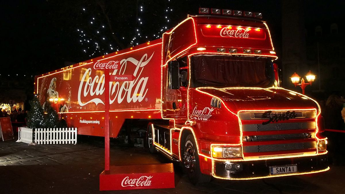 Where can I see the Coca-Cola truck in 2019?