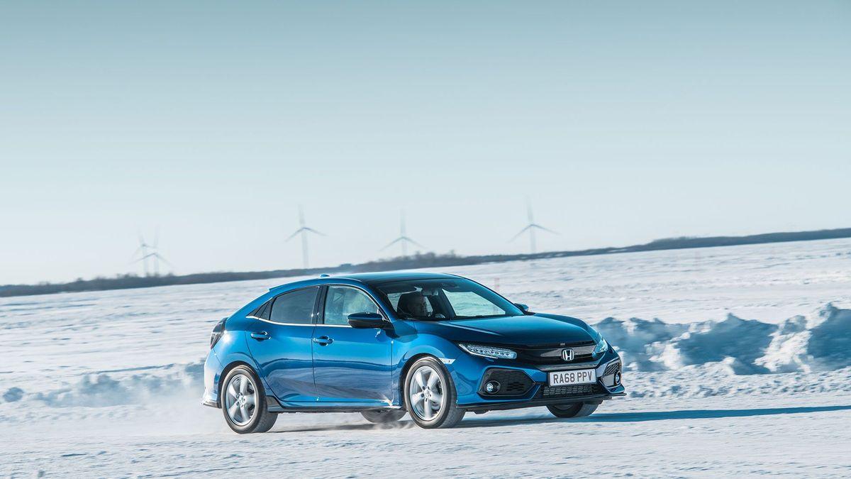 Honda Civic ice driving Kemi Finland