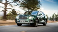 2016 Bentley Bentayga W12 front action shot