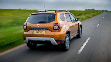 Best family cars include Dacia Duster (rear view)