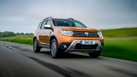 Best family cars include Dacia Duster (front view)