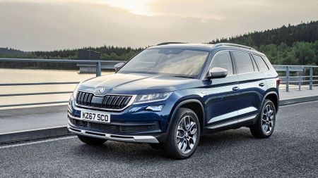 Best family cars include Skoda Kodiaq (front view)