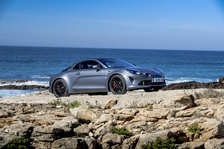 Alpine A110S by the coast