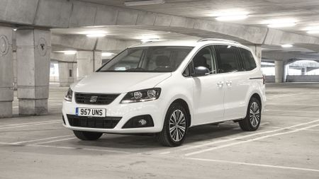 Best family cars include Seat Alhambra (front view)