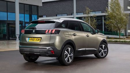 Rear view of a Peugeot 3008, a funky family car