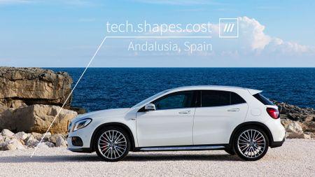 Mercedes three-word address navigation