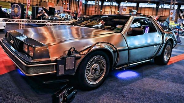 Back to the Future's DeLorean on display