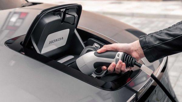 Charging Honda electric car