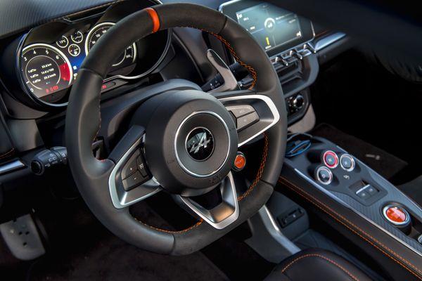 Alpine A110S steering wheel