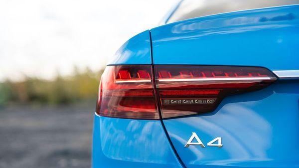 Close up of a Audi A4 tail light
