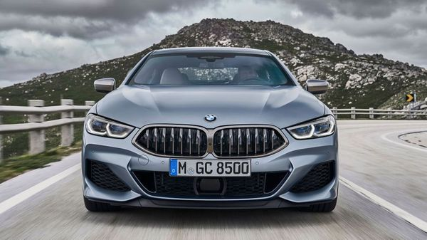 Grey BMW 8 Series Gran Coupe grille