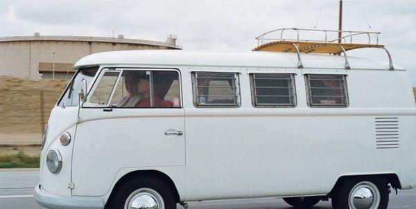 White VW motorhome