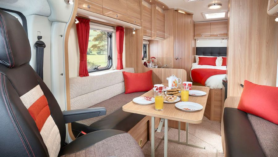 Motorhome interior layout
