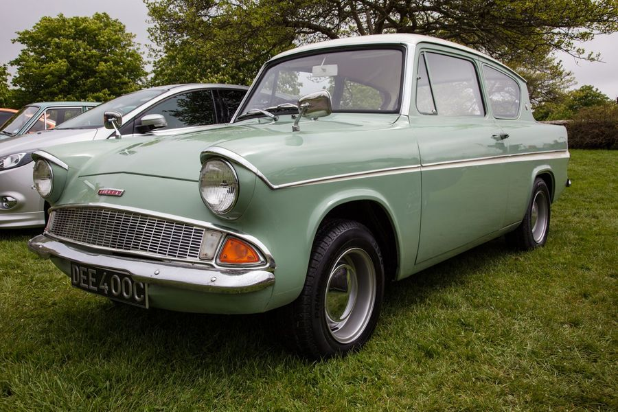 Ford Anglia, as seen in the Harry Potter franchise