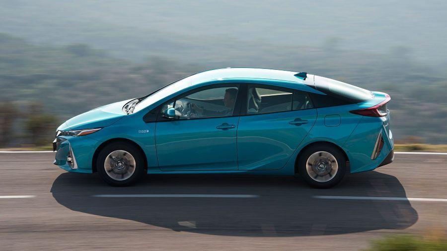 Blue Toyota Prius Hybrid