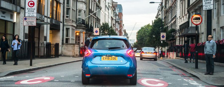 Renault Zoe on the road