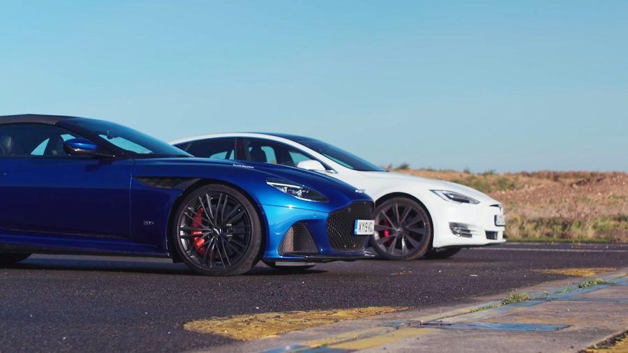 Tesla Model S and Aston Martin DBS head to head