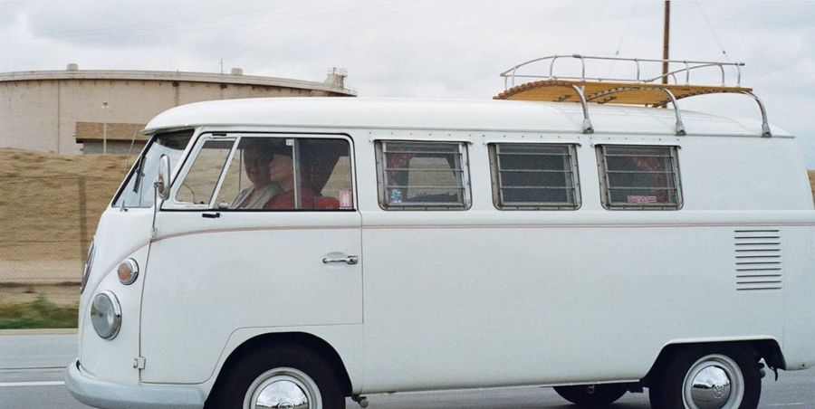 White VW motorhome