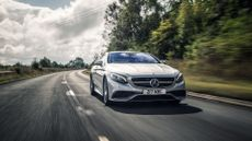 2015 Mercedes Benz S63 AMG Coupe driving