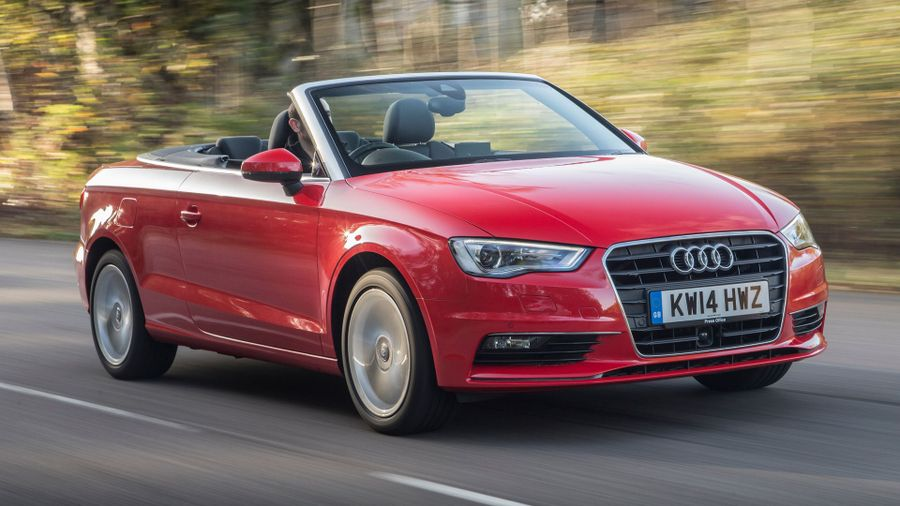 Audi A3 cabriolet on-road